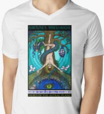 Fortune's Wheelhouse Tabula Mundi Tarot Hanged Man tee Men's V-Neck T-Shirt