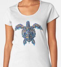 Camiseta premium de cuello ancho Tortuga marina (Versión en color)
