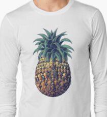 Ornate Pineapple (Color Version) Long Sleeve T-Shirt