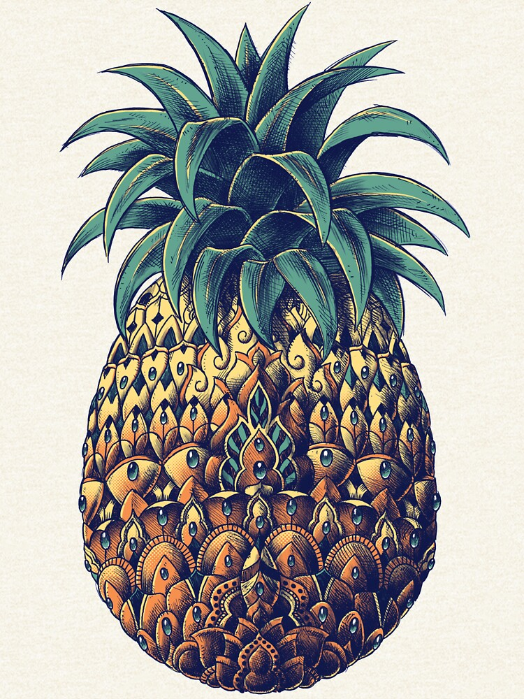 Ornate Pineapple (Color Version) by BioWorkZ