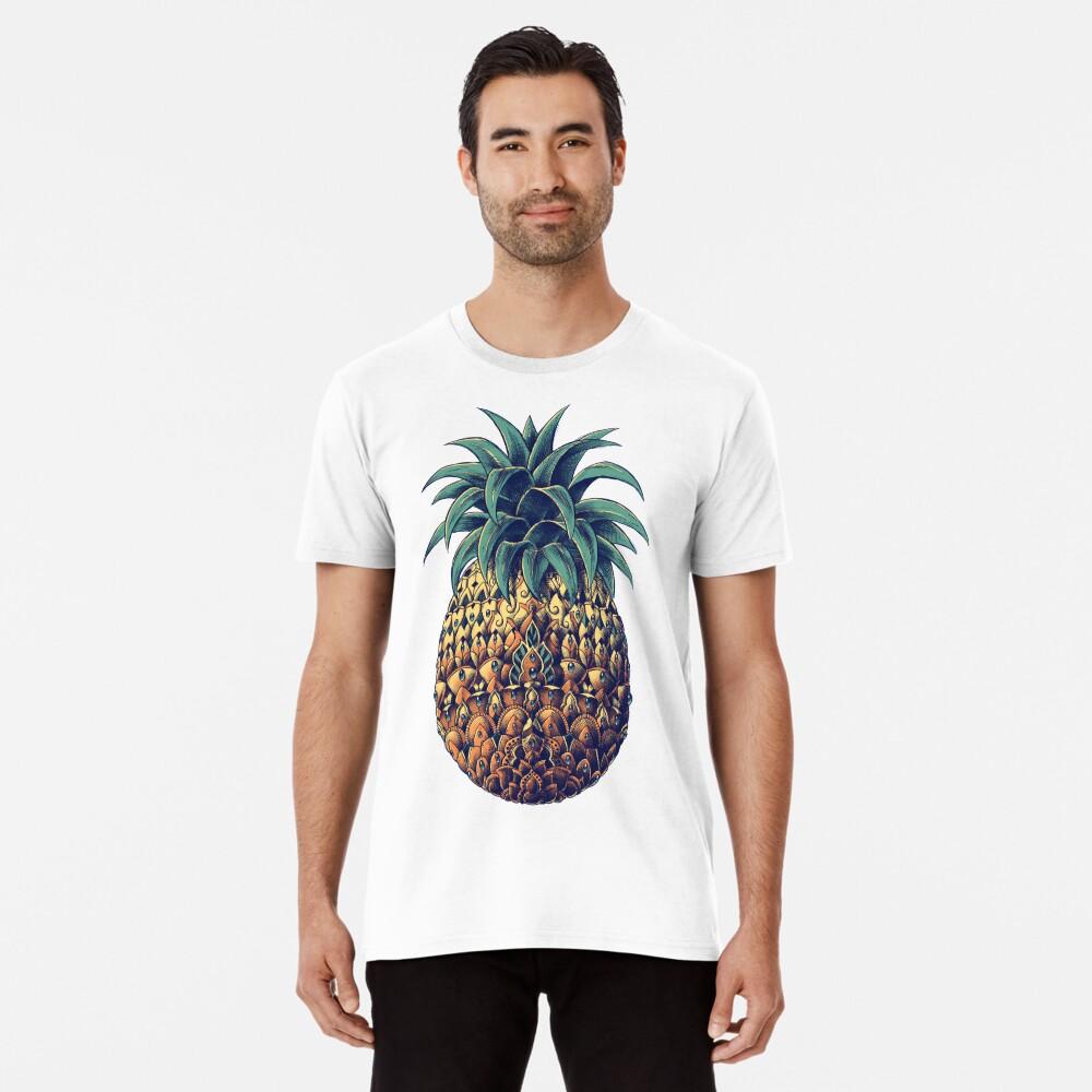 Piña adornada (Versión en color) Camiseta premium