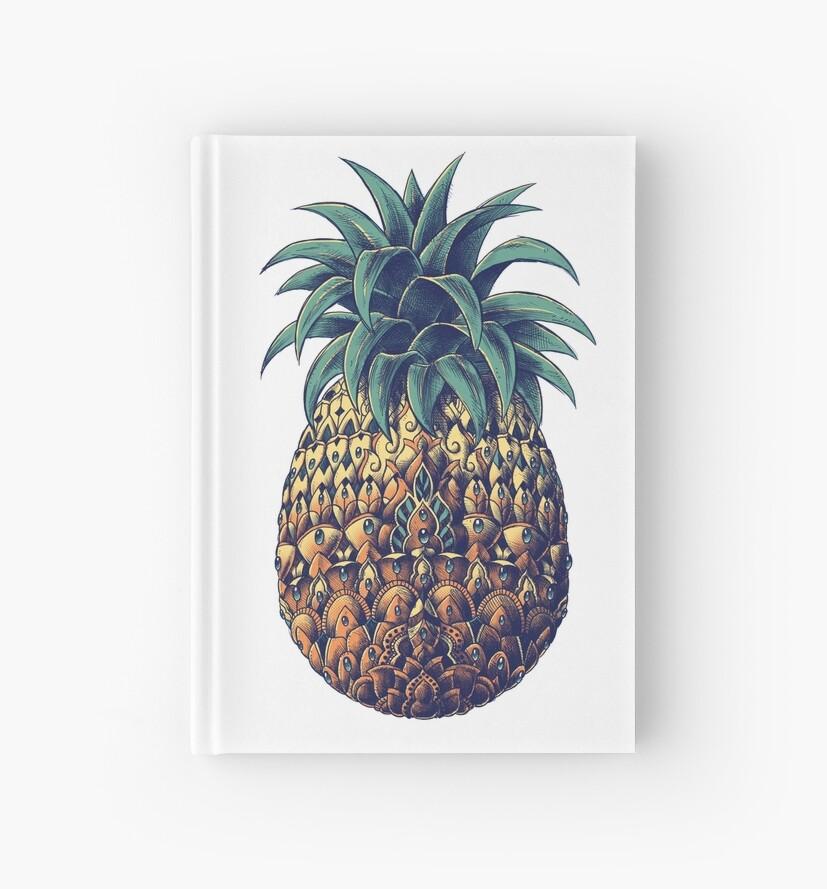 Kunstvolle Ananas (Farbversion) von BioWorkZ