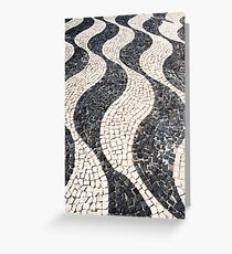 Waved causeway Greeting Card
