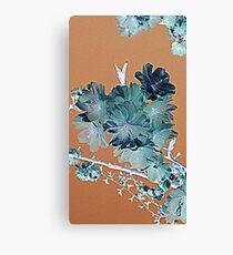 Blossom - Faded orange and grey Canvas Print