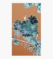 Blossom - Faded orange and grey Photographic Print