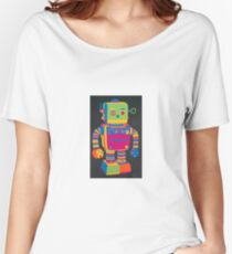 Neon Robot 1 Women's Relaxed Fit T-Shirt