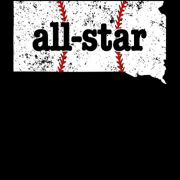 Youth All Star Baseball Shirt South Dakota Shirt Softball by shoppzee