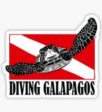 Galapagos Diving with Sea Turtle Sticker