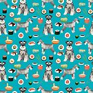 schnauzer sushi dog breed pet pattern gifts  by PetFriendly