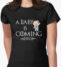 A Baby is coming 2018 Shirt - Gift Women's Fitted T-Shirt