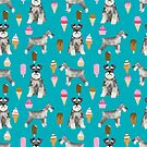 schnauzer ice cream dog breed pet pattern gifts  by PetFriendly