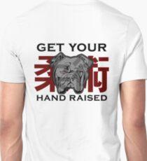 """Get Your Hand Raised"" - Jiu Jitsu Bulldog (on white) Unisex T-Shirt"