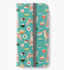 shiba inu sushi dog breed pet dog art iPhone Wallet/Case/Skin