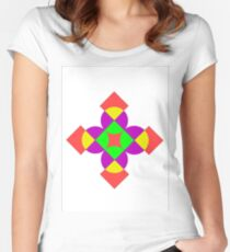 SQUARES AND CIRCLES Women's Fitted Scoop T-Shirt