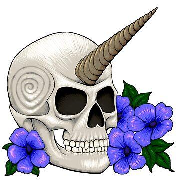 Horned Skull by Wroxhawk