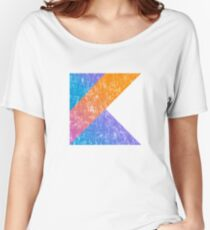 Kotlin Programming Language Retro Style  Women's Relaxed Fit T-Shirt