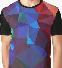 Polygon Multi-color  Graphic T-Shirt