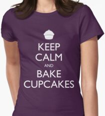 Keep Calm and Bake Cupcakes Women's Fitted T-Shirt