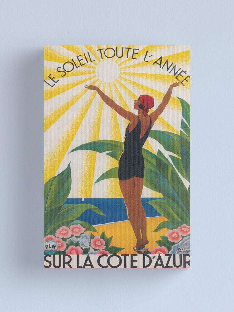 La Cote d/'azur  Vintage Travel Poster Print   Framed Canvas