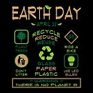 Earth Day Tips T-Shirt by EthosWear