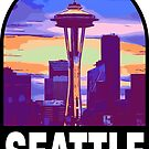 SEATTLE - Space Needle by StickerBox