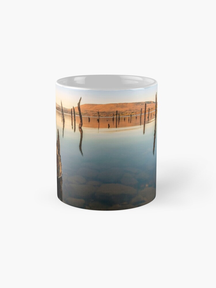 Alternate view of Old wooden Pier at Oughterard Galway Ireland Mugs