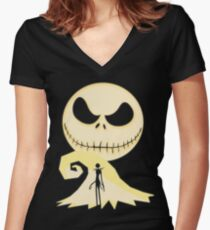 JACK THE HERO Women's Fitted V-Neck T-Shirt
