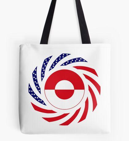 Greenlandic American Multinational Patriot Flag Tote Bag