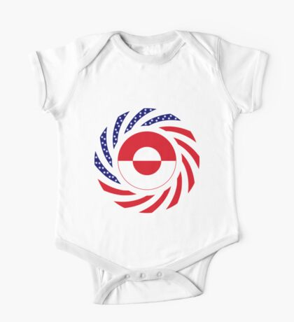 Greenlandic American Multinational Patriot Flag Kids Clothes
