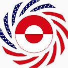 Greenlandic American Multinational Patriot Flag by Carbon-Fibre Media