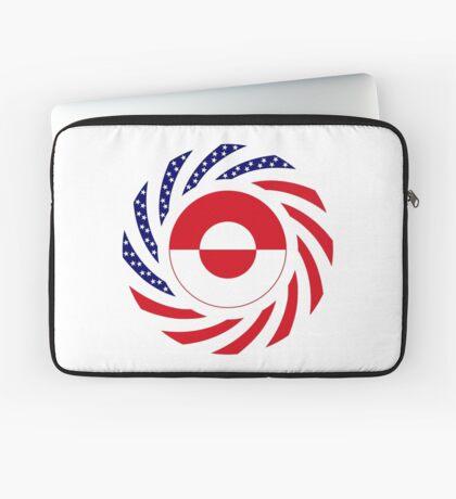 Greenlandic American Multinational Patriot Flag Laptop Sleeve