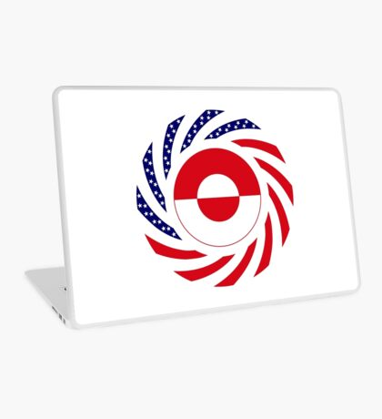 Greenlandic American Multinational Patriot Flag Laptop Skin