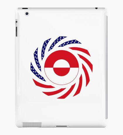 Greenlandic American Multinational Patriot Flag iPad Case/Skin