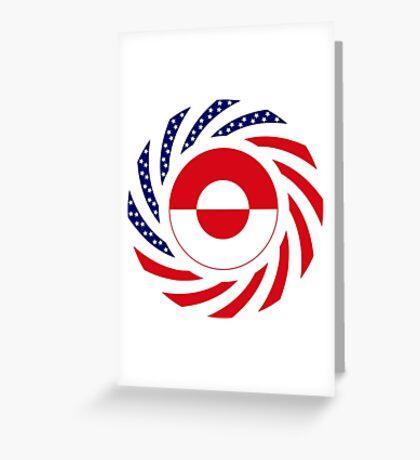Greenlandic American Multinational Patriot Flag Greeting Card
