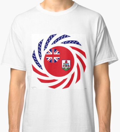 Bermudan American Multinational Patriot Flag Series Classic T-Shirt
