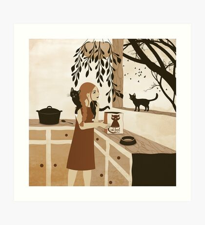 cat food Art Print