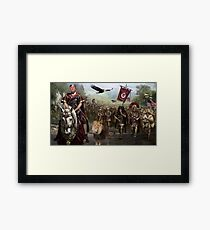 President Donald Trump and his Legion Defends America's Borders ! Framed Print