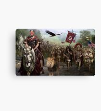 President Donald Trump and his Legion Defends America's Borders ! Canvas Print