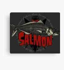 Hardcore Salmon Canvas Print