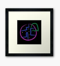 Pac Man Style Framed Print