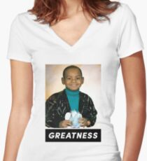 Lebron James - Greatness Tee Women's Fitted V-Neck T-Shirt
