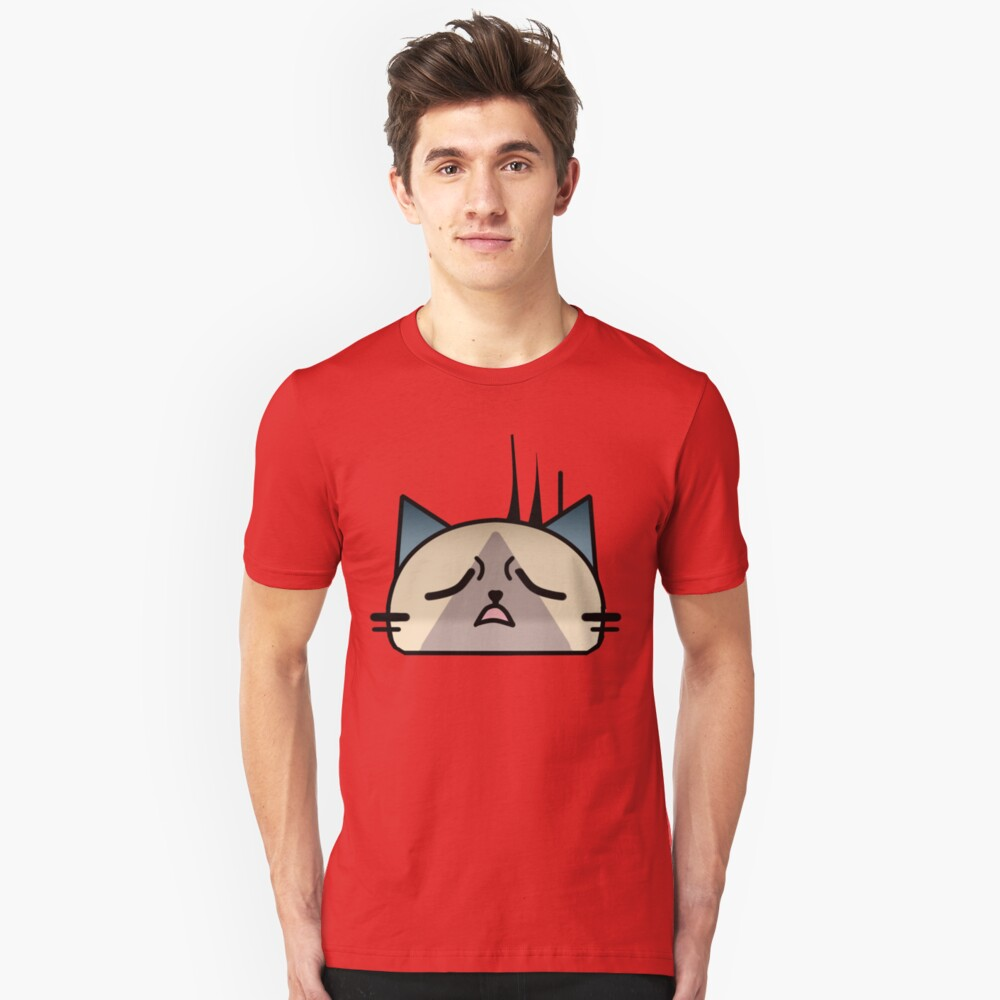 Annoyingly frustrated Cat Palico Slim Fit T-Shirt