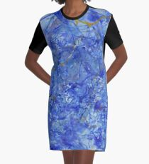 Blue Out Graphic T-Shirt Dress