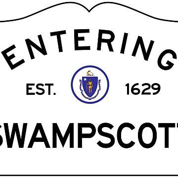 Entering Swampscott Massachusetts - Commonwealth of Massachusetts Road Sign by NewNomads