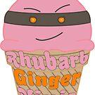 Kawaii Rhubarb & Ginger Ninja Ice Cream by Castiel Gutierrez