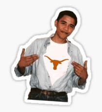 Obama University of Texas Sticker