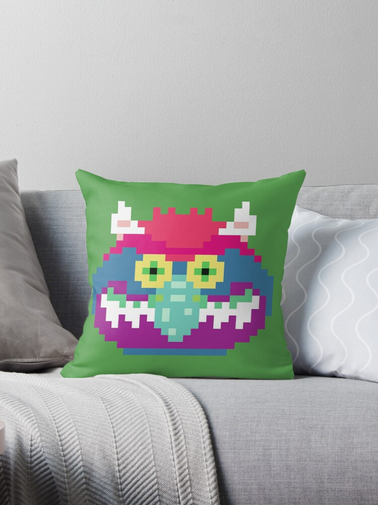 Sensational My Pet Monster In Green 8 Bit Geometric Block Square Gray Purple Pink Hot Teal Mint Vintage Retro Inspired 80S Baby Blue Yellow Gmtry Best Dining Table And Chair Ideas Images Gmtryco