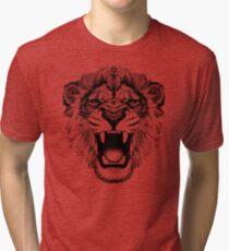 Camiseta de tejido mixto camiseta rugiente del león en lite