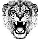 roaring lion t-shirt on lite by parko