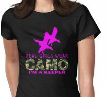 REAL GIRLS WEAR CAMO - DUCK HUNTER Womens Fitted T-Shirt